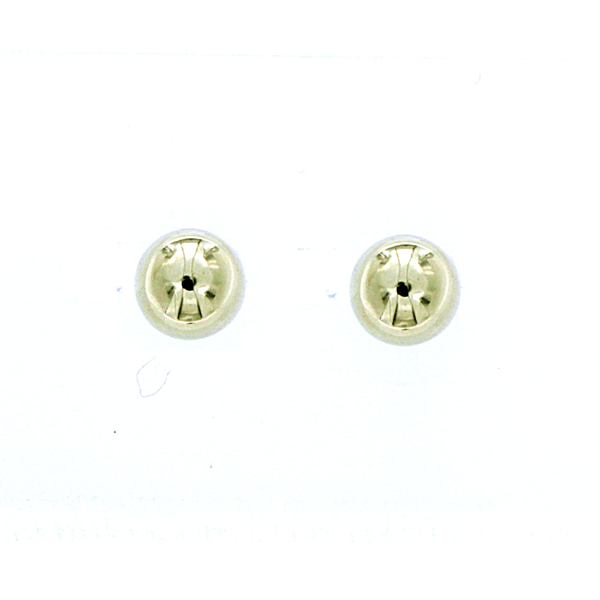 9ct Yellow Gold 6mm Half Ball Stud Earrings