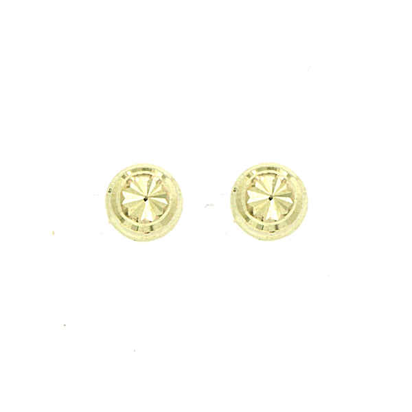 9ct 6mm Diamond Cut Ball Studs