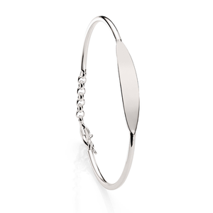 Sterling Silver Id Kids Bangle
