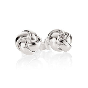 Sterling Silver 4 Tube Half Round Knot Stud Earrings