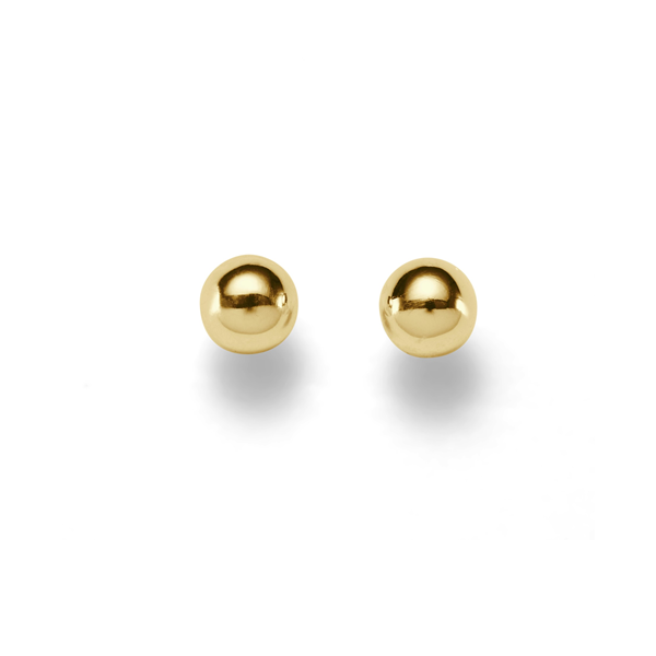Gold 8mm Polished Ball Studs