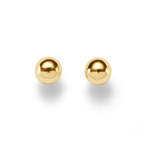9ct Light 6mm Polished Ball Studs