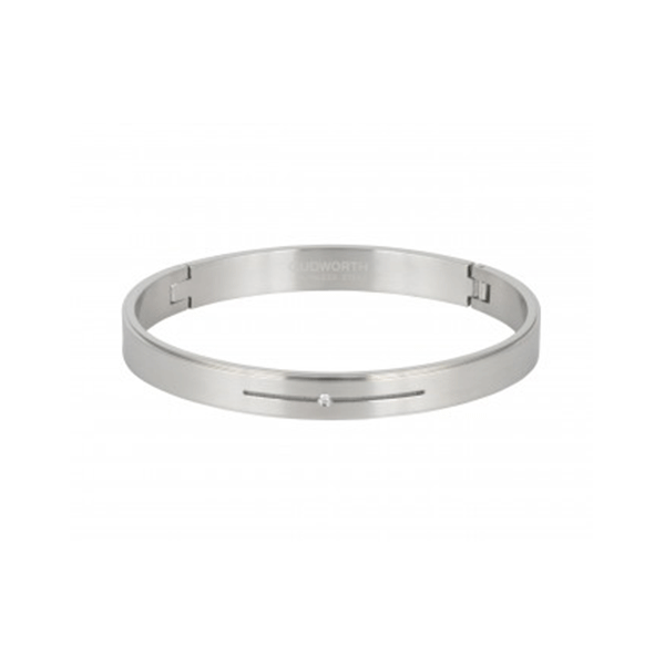 Cudworth Stainless Steel/CZ Bangle
