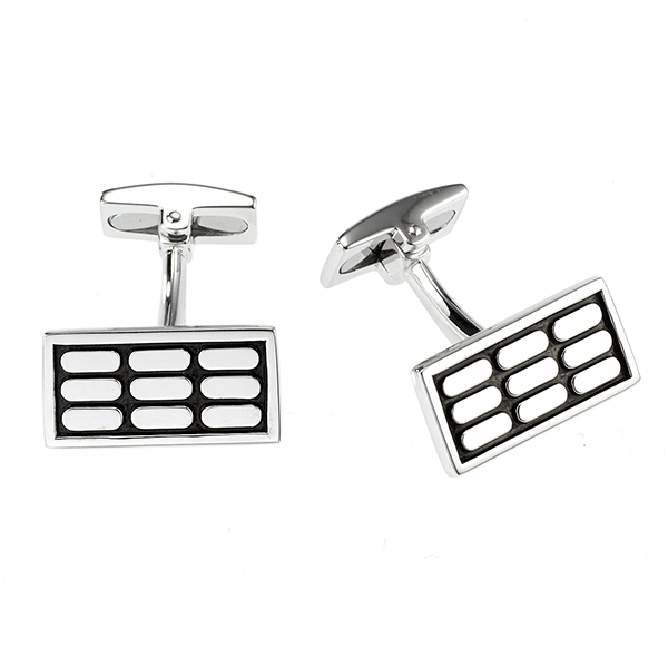 Cudworth Sterling Silver Oxidised Cufflinks