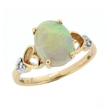 Firegem 14ct Solid Opal Ring