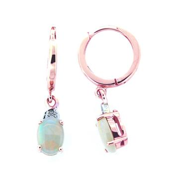 Firegem 9Ct Rose Gold Opal Earrings