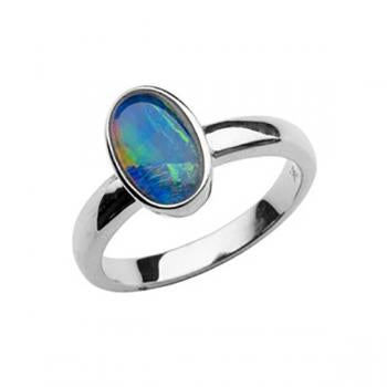 Firegem Sterling Silver Opal Ring