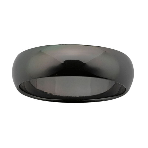 Ziro Classic Polished Black Zirconium Ring
