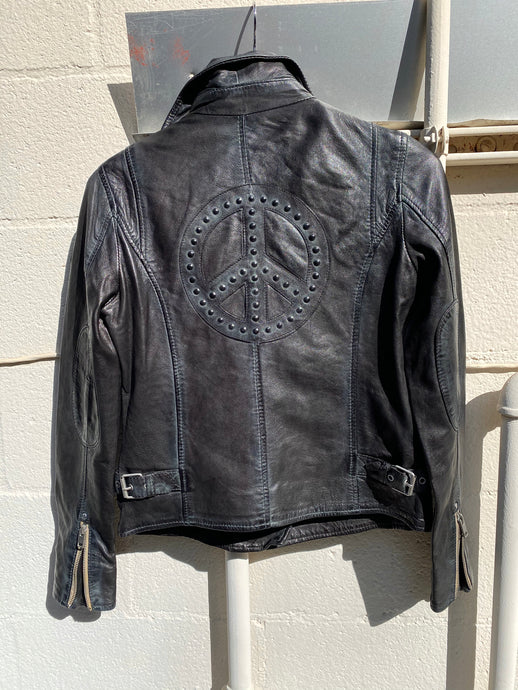 Maysie Peace Leather Jacket