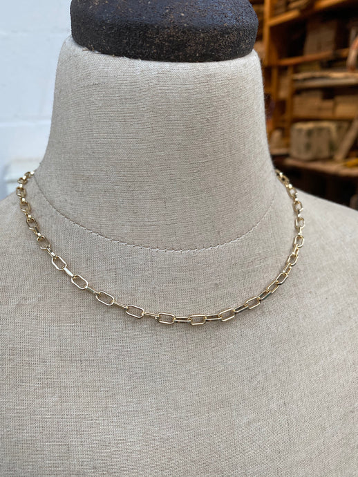 Adjustable Length Gold Chain