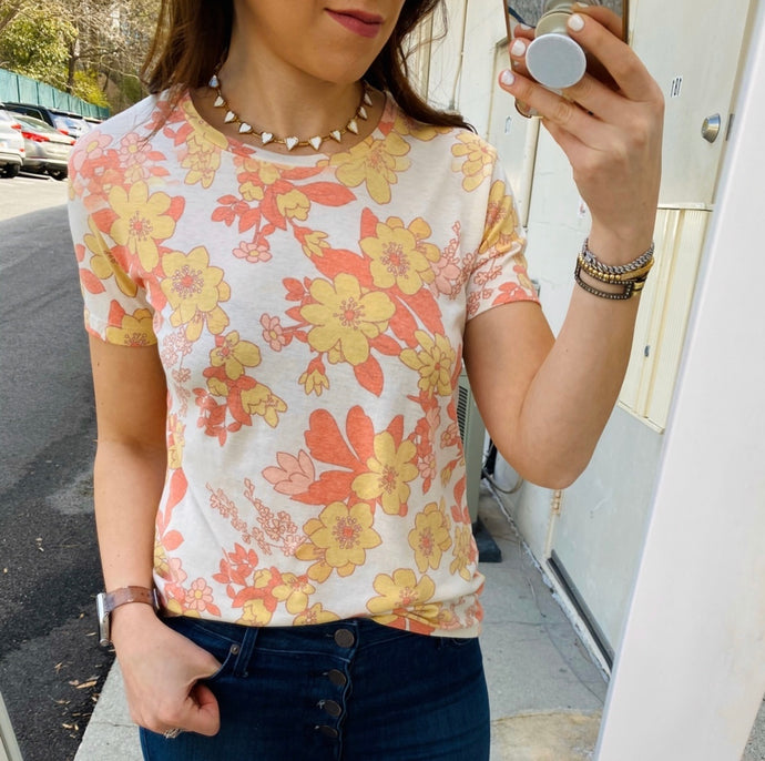 70's Floral Tee