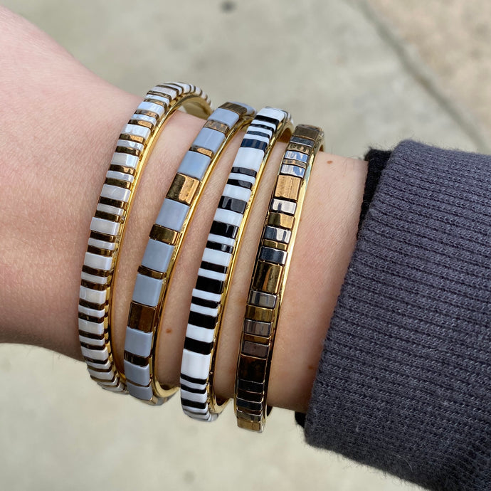 Striped Beaded Cuff