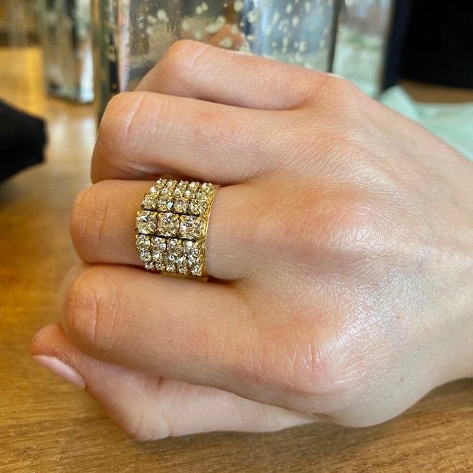 Gold/Crystal Ring