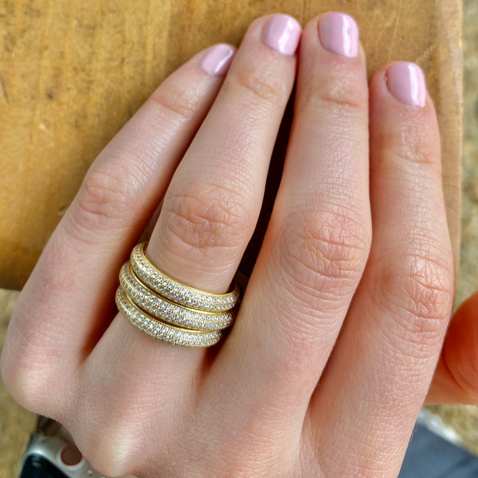 Curved Pave Ring