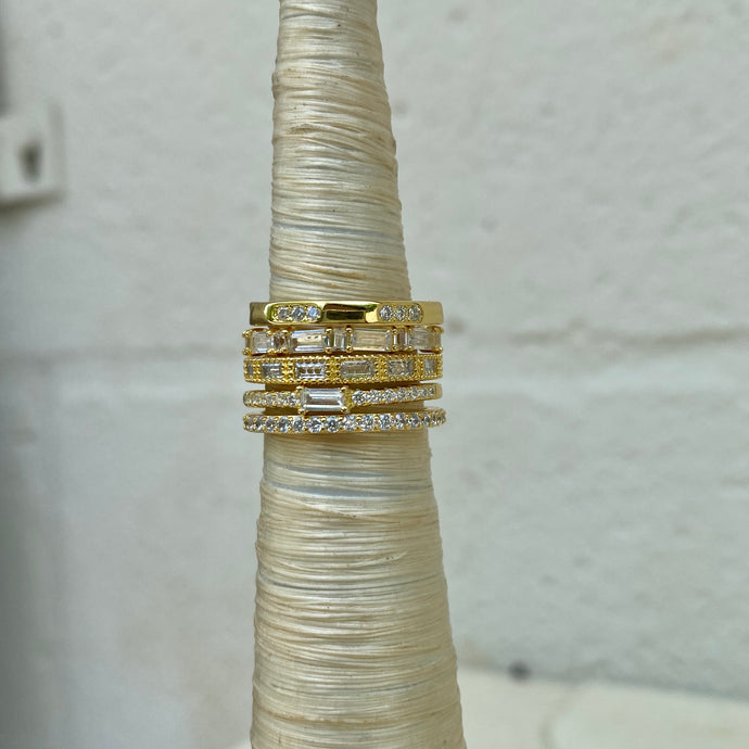 East West Baguette Ring