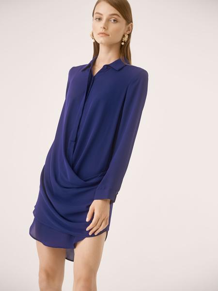 Drape Front Mini Dress