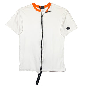 RIPPLE ZIP TEE - WHITE