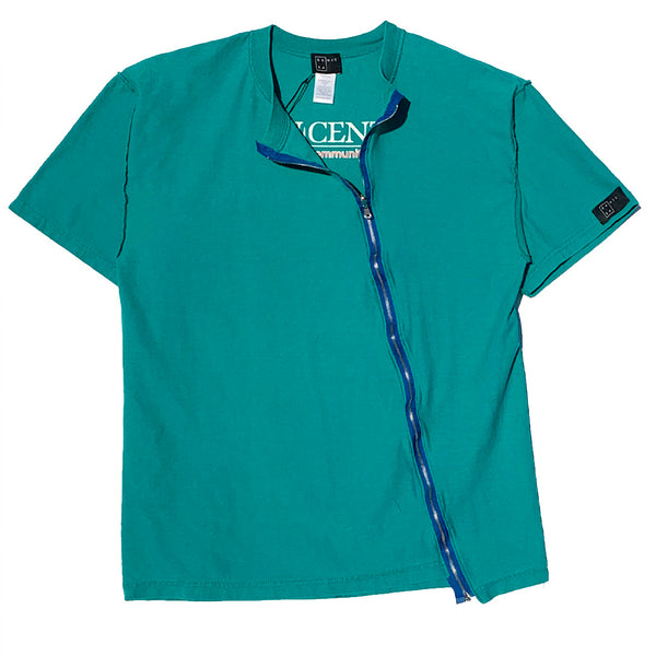 RIPPLE ZIP TEE - VINTAGE TEAL