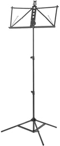 Deluxe Aluminum Music Stand w/Adjustable Tray - Black