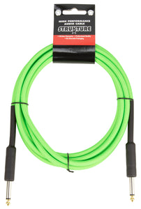 10ft Instrument Cable, 6mm Woven - UFO Green