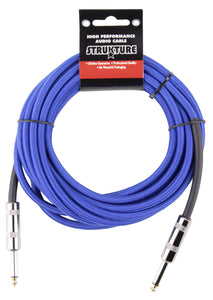 Strukture 18.6ft Instrument Cable, Woven - Blue