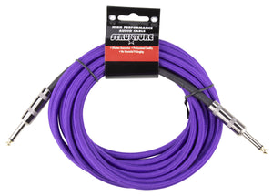 Strukture 18.6ft Instrument Cable, Woven - Purple