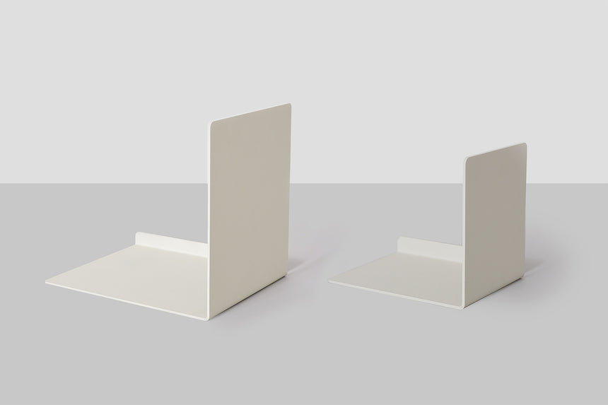 Metalware Bookend - Grey White