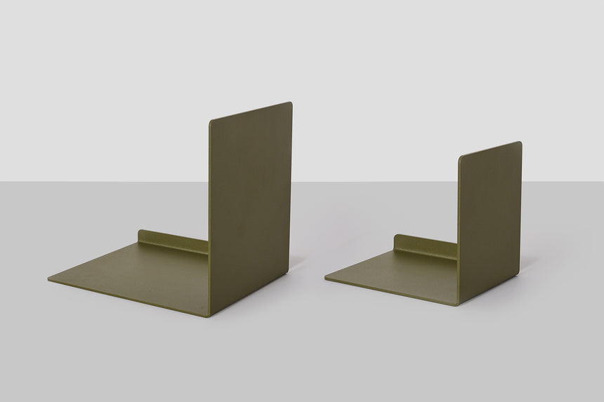 Metalware Bookend - Khaki
