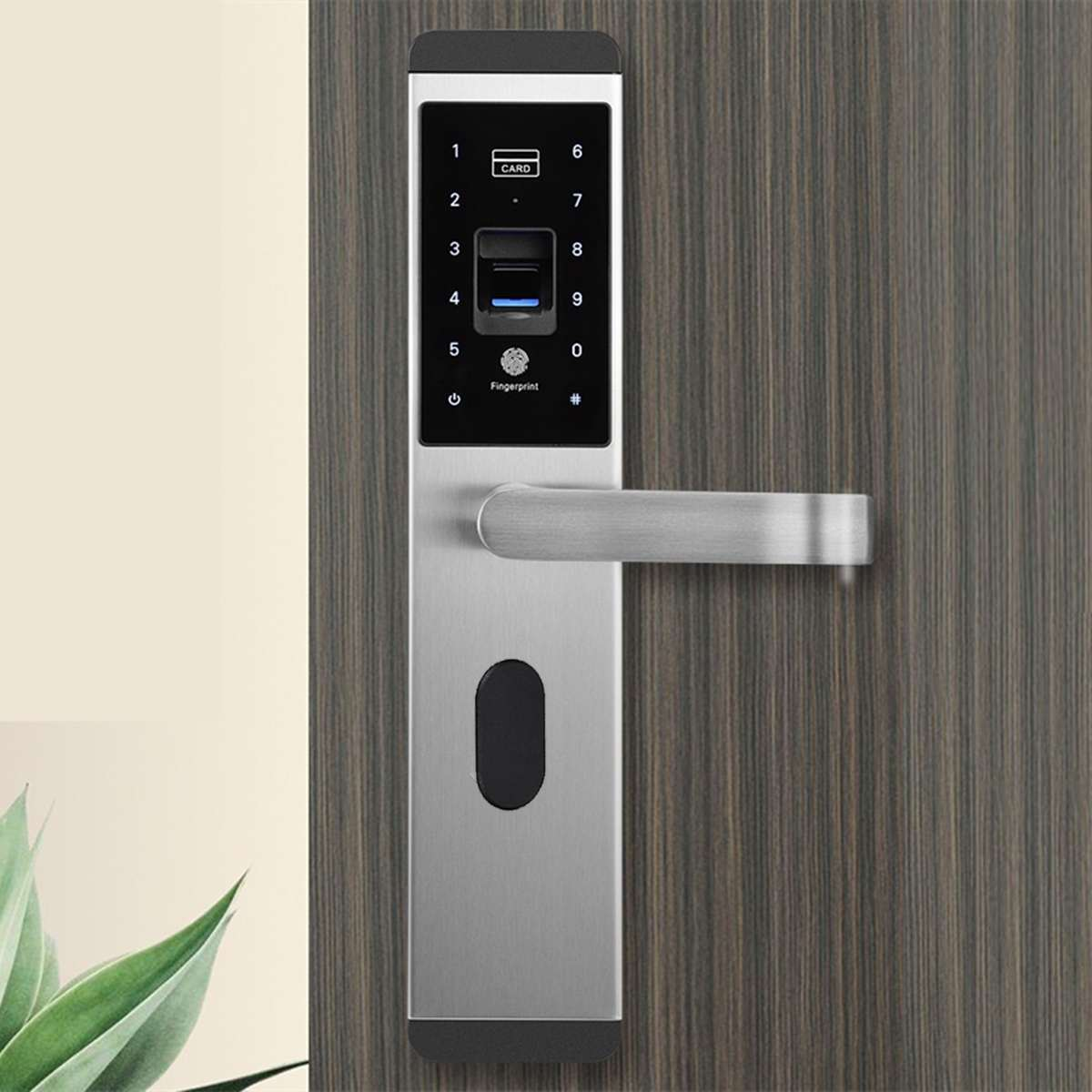SMRTI™ Smart Door Lock with FingerPrint CARD Key Password Unlock
