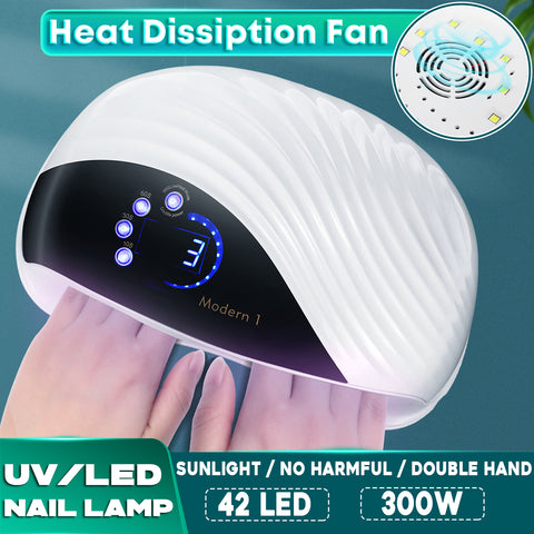 GELCURI2 300W LED UV Nail Dryer Lamp For Nail Polish Art Gel Cure