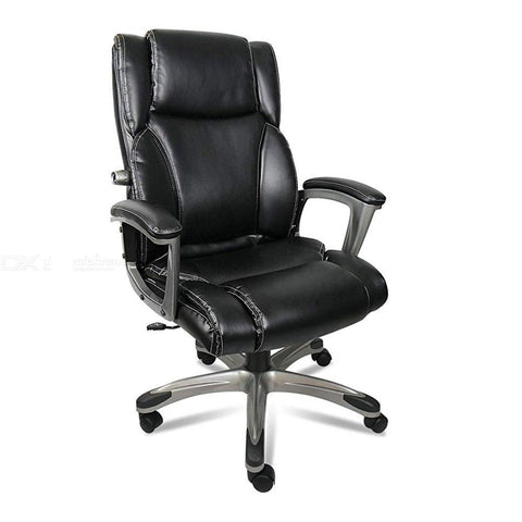 High Back Executive Leather Office Desk Chair, Computer Massage Chair With Memory Foam And Adjustable Lumbar For Office Home