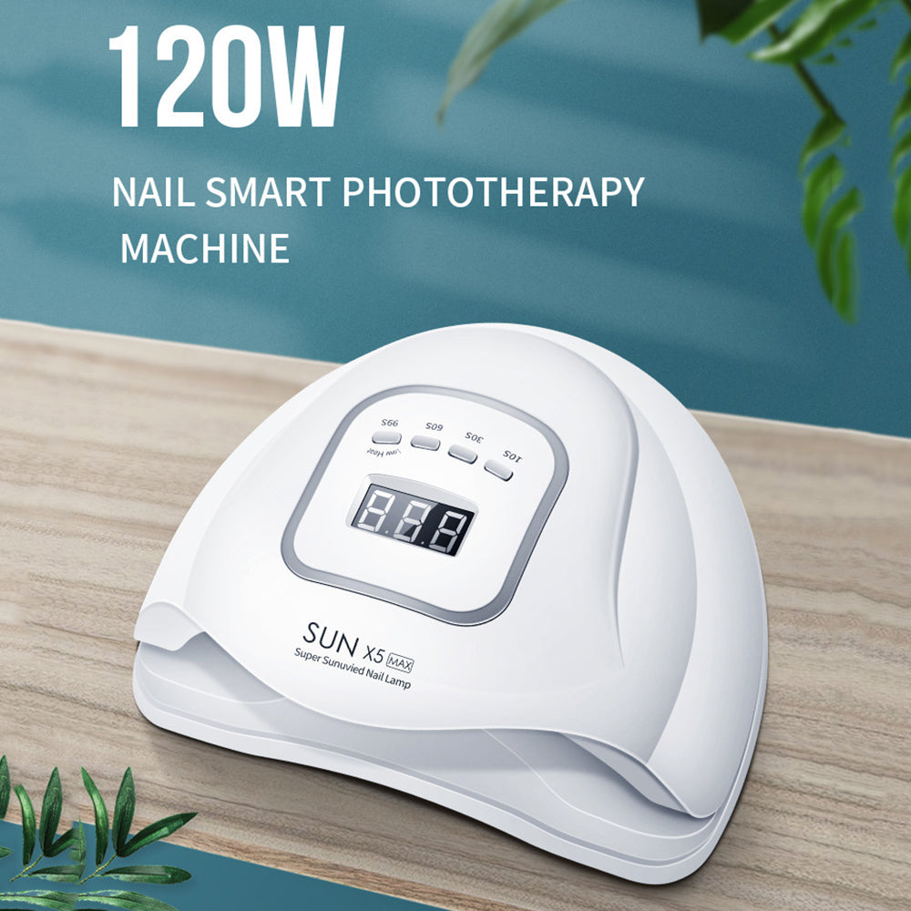GELCURI™ 120W LED UV Nail Dryer Lamp For Nail Polish Art Gel Cure