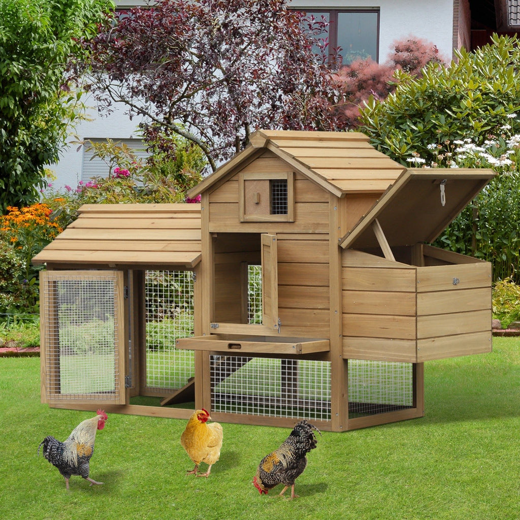 PETLOV™ Large DIY Chicken Coop/Pen Hen House with Nesting Box and Run