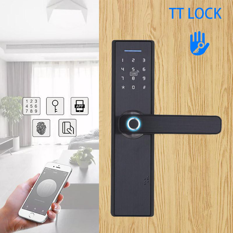 TUYA Smart Door Lock with FingerPrint CARD Key Password APP Unlock