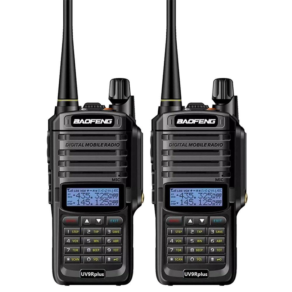 2Pcs Baofeng UV-9R Plus 10W Upgrade Version Two Way Radio VHF UHF Walkie Talkie for CB Ham US Plug
