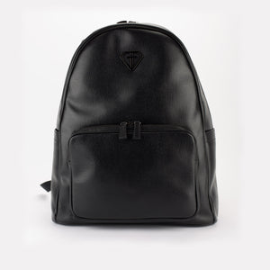 Backpack saffianino black gun metal