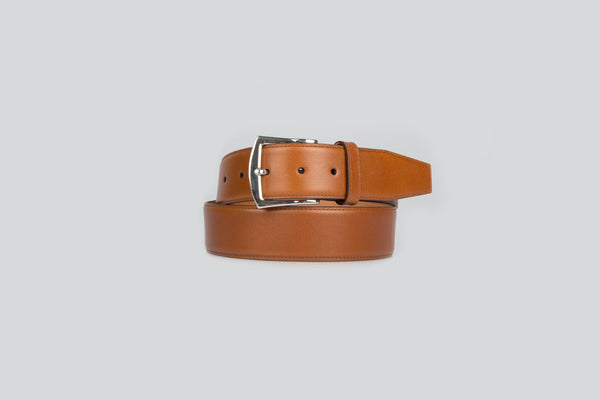Adjustable belt in calf leather