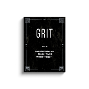 Grit Noun Motivational Wall Art (with printed frame)
