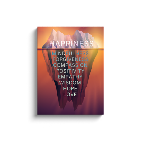Happiness Iceberg Canvas Wall Art / Success Iceberg