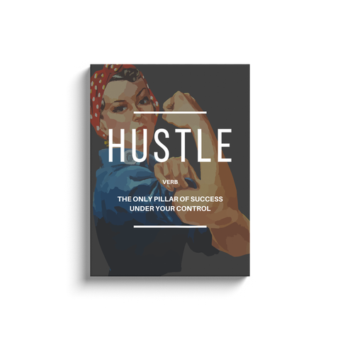 Hustle Verb Inspirational Wall Art (Rosie The Riveter)