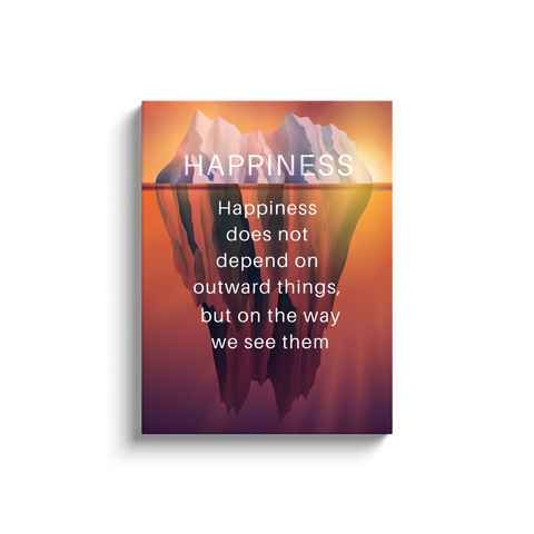 Happiness Iceberg Canvas Wall Art with Quote