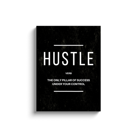 Hustle Verb Inspirational Wall Art Minimalist