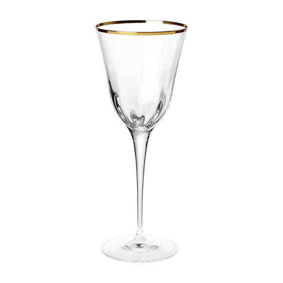 Optical Gold Water Glass