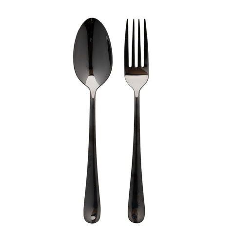 Vietri Settimocielo Nero Serving Set