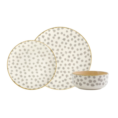 Viva by Vietri Earth Flower 3-Piece Place Setting