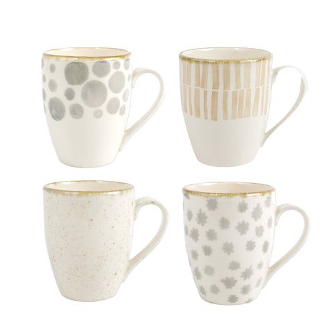 Viva by Vietri Earth Assorted Mugs (Set of 4)