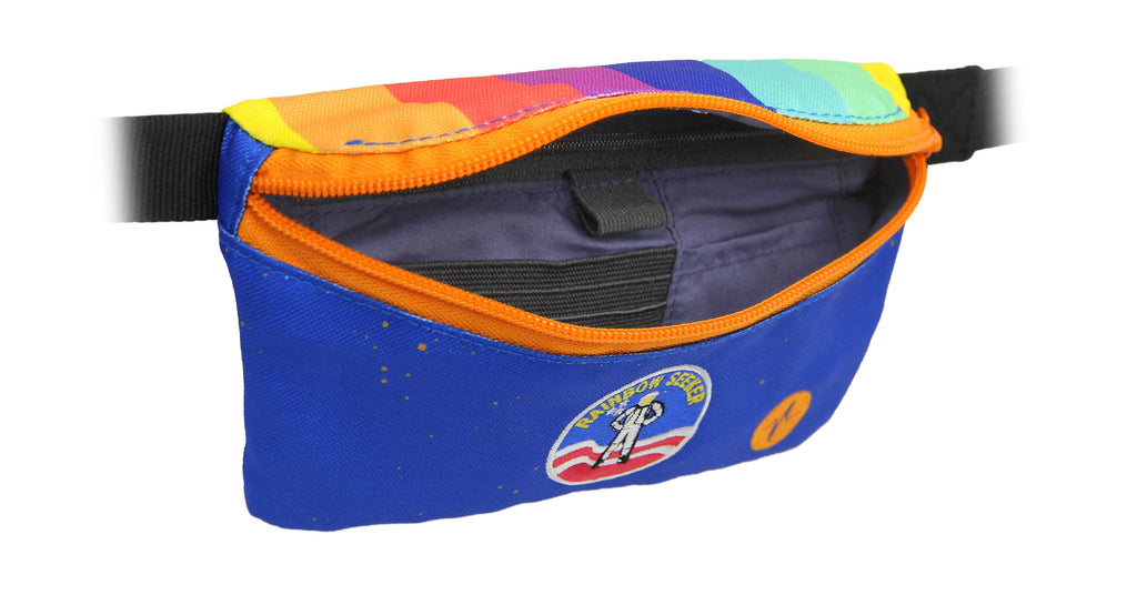 Joe Hertler & the Rainbow Seekers custom Jaunt fanny pack interior.