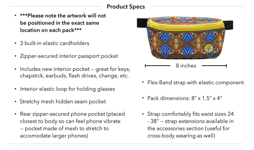 Chris Dyer Apotheosis of Dualitree Jaunt Fanny Pack Product Specs
