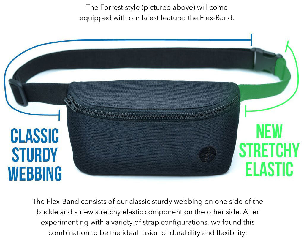 Forrest Jaunt Fanny Pack with Flex-Band