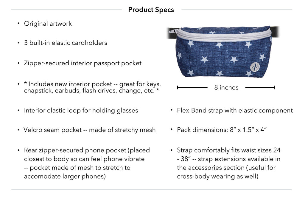 Forrest Jaunt Fanny Pack Product Specs